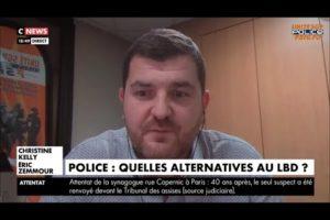 Gregory JORON Secrétaire Général Délégué UNITÉ SGP POLICE s'exprimait sur CNews ce 27/01/2021.