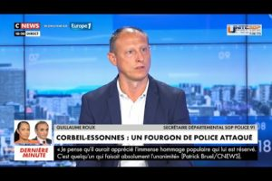 G.Roux, UNITÉ SGP POLICE 91 à propos du fourgon de police attaqué aux Tarterêts