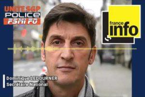 Dominique LEDOURNER sur France Info au sujet de la plateforme d'assistance pour les policiers