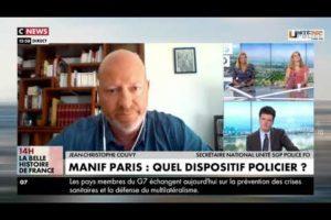 """JC Couvy sur Cnews à propos de """"la marche des libertés"""" qui va se dérouler dans la journée à Paris."""