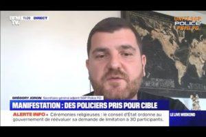 Grégory Joron en colère sur BFMTV suite aux nombreux collègues blessés lors de la manifestation