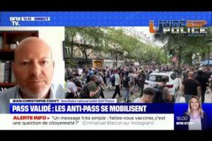 Jean-Christophe Couvy sur BFMTV : Les anti-pass se mobilisent