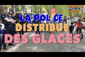 LA POLICE DISTRIBUE... DES GLACES !