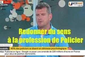 Jérôme Moisant intervient sur France Info au sujet des suicides dans la Police