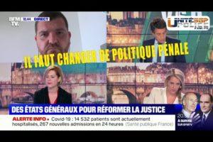 Grégory Joron sur BFMTV, il faut changer la politique pénale