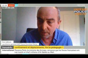 Yves Lefebvre traite du confinement sur FRANCE TV INFO