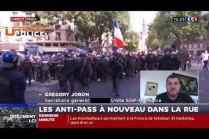 Grégory Joron sur LCI : Les anti-pass à nouveau dans la rue