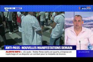 ANTI-PASS : Nouvelles manifestations samedi 31/07 : Rocco CONTENTO sur le plateau de BFMTV