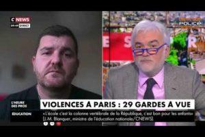 Gregory JORON sur le plateau de Pascal Praud ce 7/12/2020 suite aux manifs violentes de ce week-end