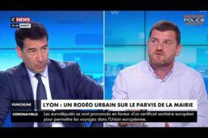 Grégory JORON d'UNITÉ SGP POLICE est intervenu sur Cnews sur divers sujets d'actualité.