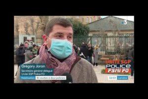 Rassemblement à Metz - Soutien aux policiers entendus