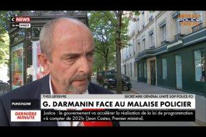 Yves LEFEBVRE sortie réunion avec Gérald DARMANIN, nouveau Ministre de l'Intérieur