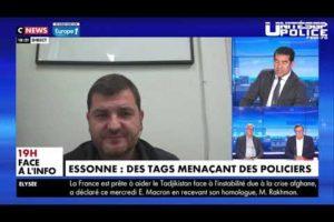 Menaces contre les policiers, intervention de Greg Joron sur Cnews