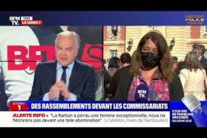 Laetitia DUCROS Déléguée nationale PATS, sur BFM à Rambouillet, lors de l'hommage rendu à Stéphanie.