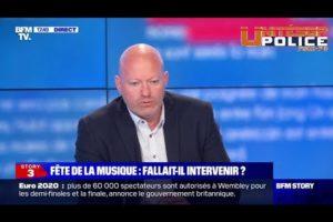 Jean-Christophe Couvy commente les affrontements lors de la fête de la musique sur BFMTV